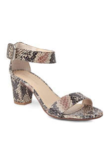 KG BY KURT GEIGER Nina faux-snake leather sandals
