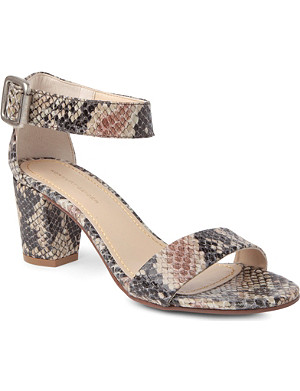 KG KURT GEIGER Nina faux-snake leather sandals