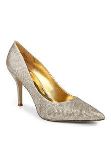 NINE WEST Flax metallic overlay court shoes