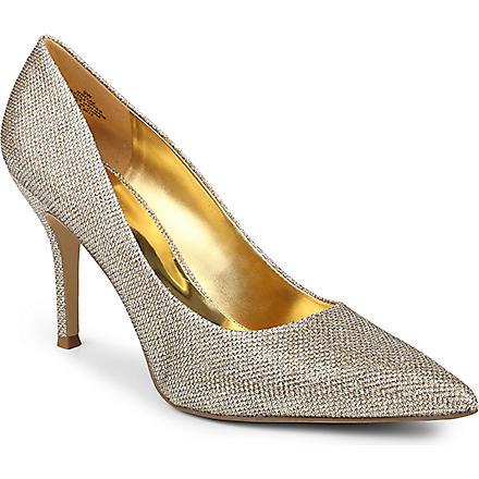 NINE WEST Flax metallic overlay court shoes (Gold