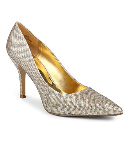 NINE WEST Flax metallic overlay court shoes (Gold