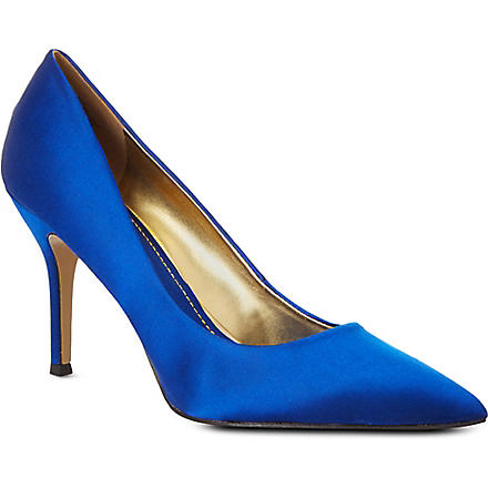 NINE WEST Flax suede pointed-toe courts (Blue