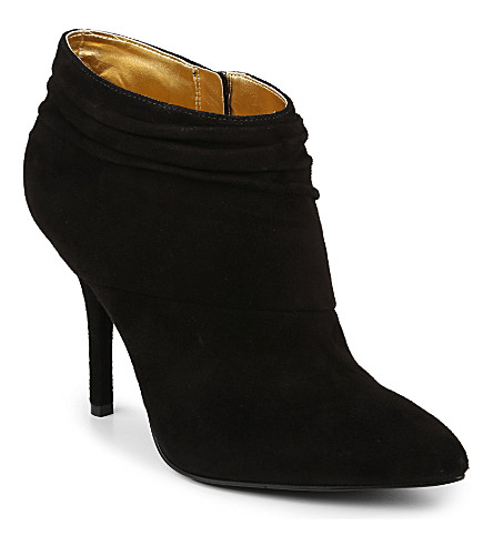 NINE WEST Junette suede slouched ankle boots (Black
