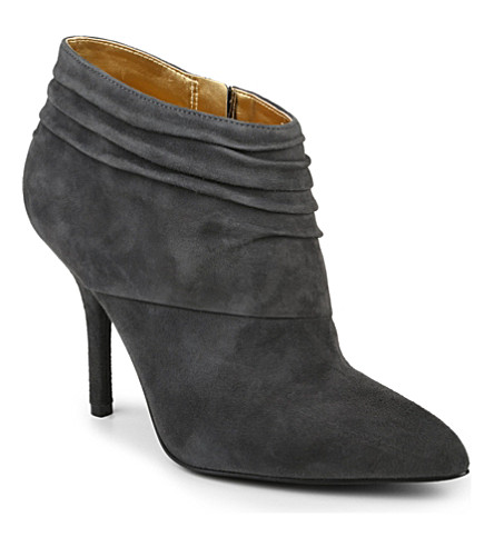 NINE WEST Junette suede slouched ankle boots (Grey