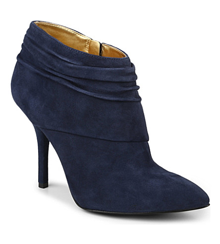 NINE WEST Junette suede slouched ankle boots (Navy