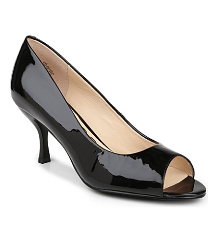 NINE WEST Quinty patent leather courts (Black