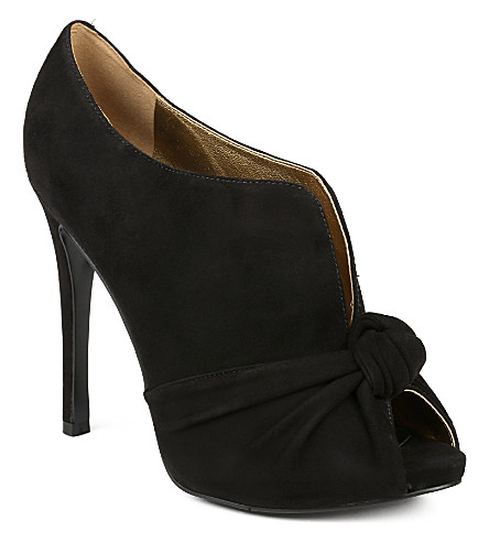 NINE WEST Amiah knotted peep-toe shoes (Black