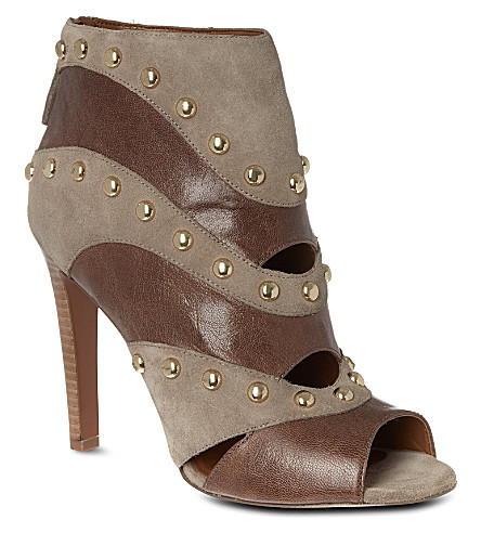 NINE WEST Ezzy peep toe ankle boot (Taupe