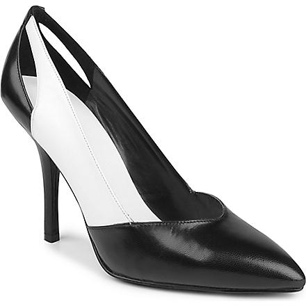 NINE WEST Juana leather courts (Blk/white