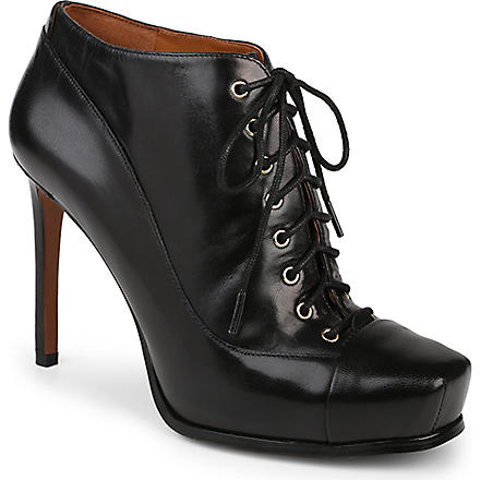 NINE WEST Oliviana leather lace-up ankle boots (Black