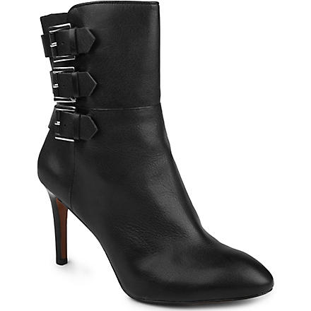 NINE WEST Petti leather ankle boots (Black