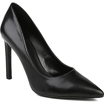 NINE WEST Tatiana leather courts (Black