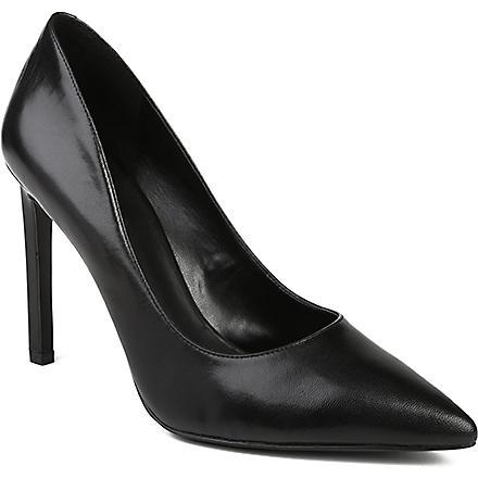 NINE WEST Tatiana leather courts (Black