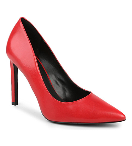NINE WEST Tatiana leather courts (Red