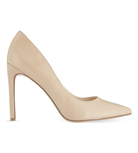 NINE WEST Tatiana 3 patent-leather courts (Nude