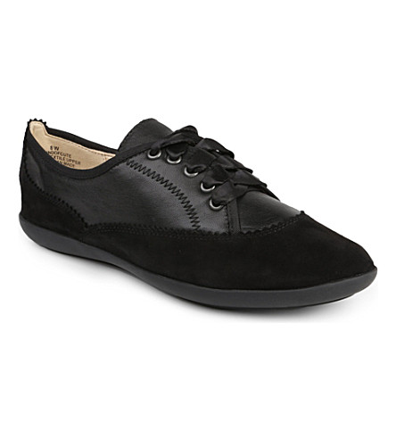 NINE WEST Kindofcute leather and suede trainers (Black