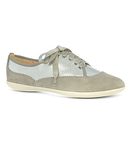 NINE WEST Kindofcute leather trainers (Grey