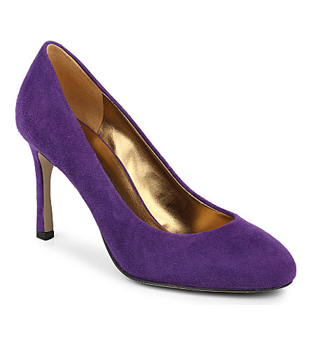 NINE WEST Drusilla suede court shoes (Purple