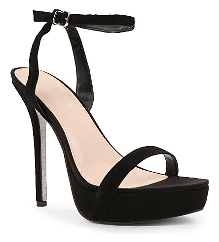 CARVELA Grape suede sandals (Black