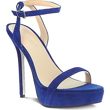 CARVELA Grape suede sandals (Blue