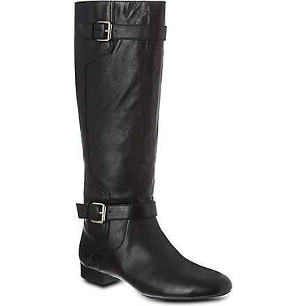 NINE WEST Punter-n leather knee-high boots (Black