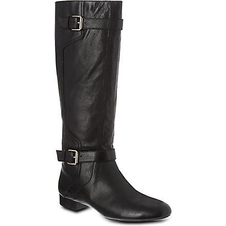NINE WEST Punter-n leather knee-high boots (Black