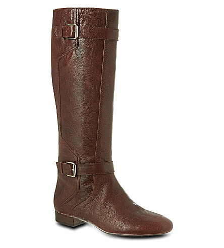 NINE WEST Punter-n leather knee-high boots (Brown