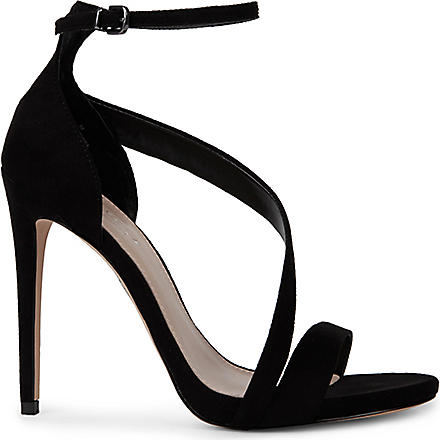 CARVELA Gosh faux-suede sandals (Black