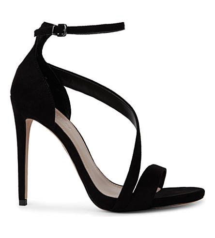 CARVELA Gosh faux-suede sandals (Black