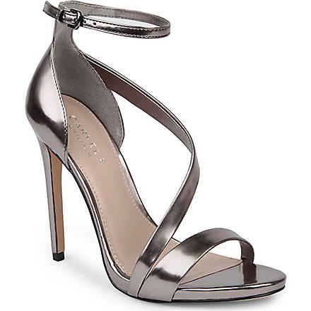 CARVELA Gosh patent sandals (Gunmetal