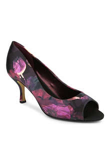 NINE WEST Quinty2 printed peep-tie court shoes