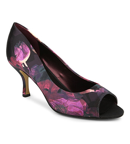 NINE WEST Quinty2 printed peep-tie court shoes (Mult/other