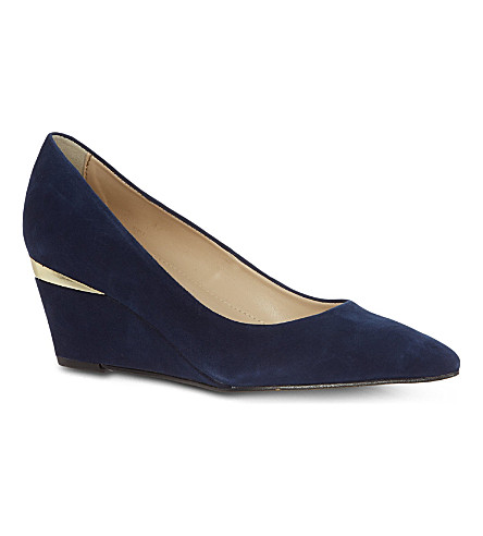 CARVELA Avenue suede wedges (Blue