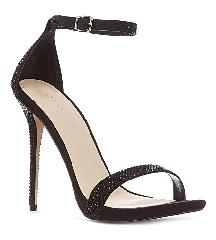 CARVELA Glacier diamanté sandals (Black