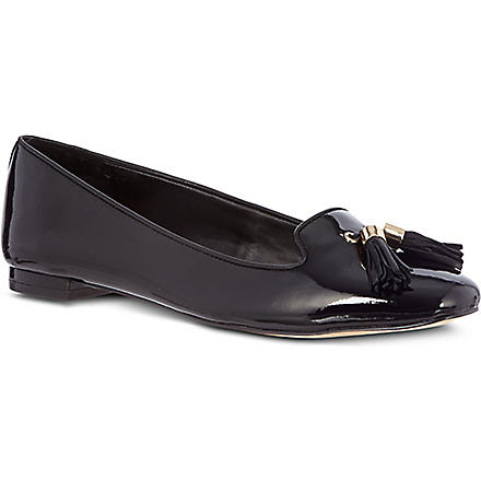 CARVELA Lint patent leather loafers (Black