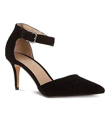 CARVELA Argue suede court shoes (Black