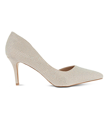 CARVELA Gin diamanté-embellished court shoes (Nude