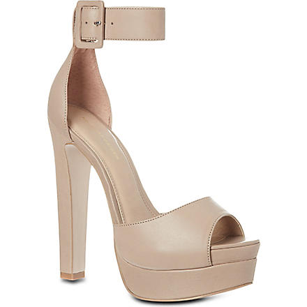 KG KURT GEIGER Halo leather platform sandals (Nude