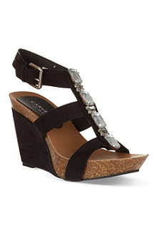 CARVELA Kayleigh embellished wedge sandals