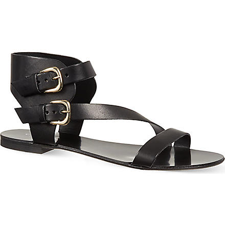 CARVELA Kuddle leather sandals (Black