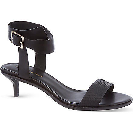 KG KURT GEIGER Mari leather heeled sandals (Black