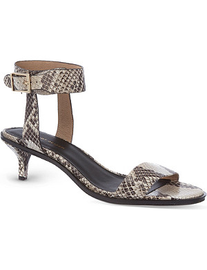 KG KURT GEIGER Mari snakeprint leather heeled sandals