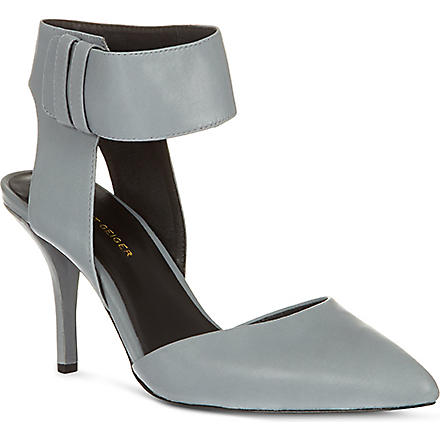 KG KURT GEIGER Caden leather sandals (Grey