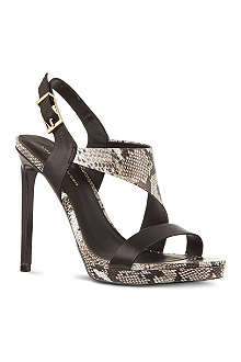 KG KURT GEIGER Earl snake-look sandals