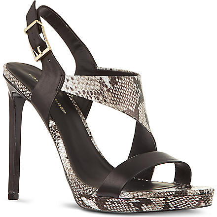 KG KURT GEIGER Earl snake-look sandals (Black/comb
