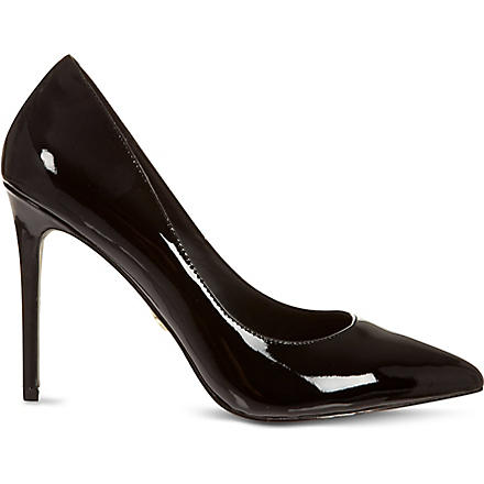 KG KURT GEIGER Bailey patent court shoes (Black