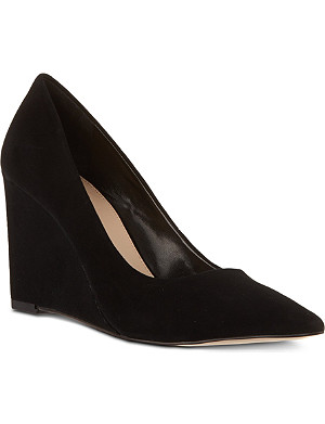 CARVELA Abbie suede wedge court shoes