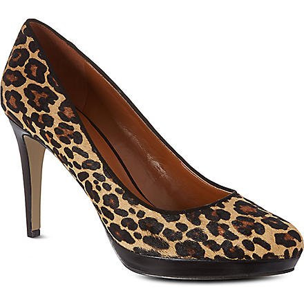 NINE WEST Beautie ponyskin courts (Brown/oth
