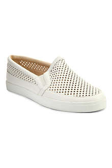 NINE WEST Brodie leather plimsoles
