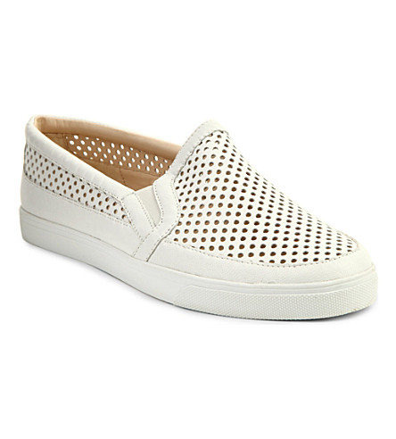 NINE WEST Brodie leather plimsoles (White